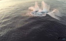 Clip cá voi lưng gù nhào lộn ngoạn mục trên biển