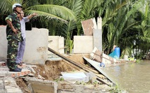 5 căn nhà ở Nhà Bè sụp xuống sông