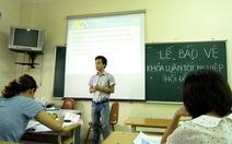 Khuyến khích sinh viên bảo vệ khóa luận tốt nghiệp bằng tiếng Anh