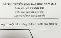 ĐH Sư phạm kỹ thuật TP.HCM công bố điểm thi môn vẽ