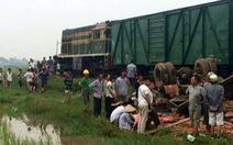 Xe tải chở gạch bị tàu hỏa đâm nát, tài xế thiệt mạng