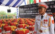 Tổ chức lễ an táng liệt sĩ ở sân bay Biên Hòa