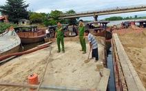 Bắt 5 ghe máy khai thác cát trái phép trên sông Thu Bồn