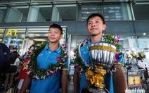 Đội tuyển U-15 VN hạnh phúc ngày trở về