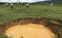 Xuất hiện 8 hố sụt ở vùng đập thủy điện Hố Hô