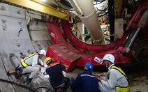 Robot TBM khủng đã khoan 150 mét metro ngầm trong lòng đất