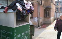 Bê bối ở Trung Quốc: xin quần áo từ thiện đem... bán