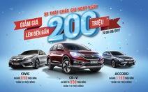 Giá mới hấp dẫn cho Honda CR-V, Honda Civic và Honda Accord