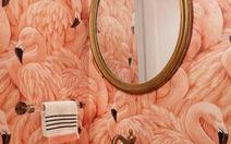Kỳ diệu giấy dán tường trong phòng tắm