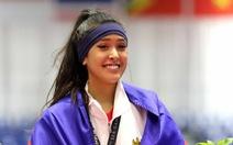 """Nữ võ sĩ xinh đẹp làm """"dậy sóng"""" thảm đấu taekwondo SEA Games"""