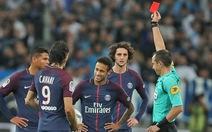 Neymar nhận thẻ đỏ, PSG chia điểm với Marseille