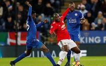 10 người Leicester cầm hòa M.U ở phút cuối