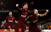 """Messi lần đầu """"nổ súng"""", Barca cầm chân Chelsea tại Stamford Bridge"""
