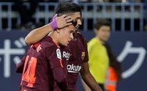 Vắng Messi, Coutinho giúp Barca thắng dễ Malaga