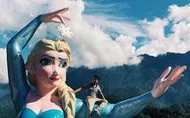 Sa Pa gấp gáp cưỡng chế tháo dỡ mô hình Nữ hoàng băng giá Elsa