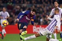 Messi ghi bàn duy nhất, Barcelona đá bại Valladolid