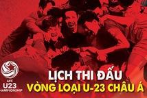 Lịch thi đấu của U-23 Việt Nam tại vòng loại Giải U-23 châu Á 2020