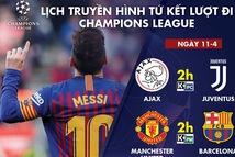 Xem trực tiếp MU- Barca và Ajax gặp Juventus ở đâu?