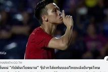 Báo Thái 'lý giải' hành động đặt ngón tay lên môi của Quế Ngọc Hải
