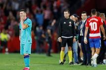 Barcelona thua 'bạc nhược' trong ngày trở lại của Lionel Messi