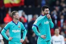 Messi bất lực, Barcelona nhận thất bại trước Valencia