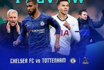 Lịch trực tiếp bóng đá châu Âu 22-2: Chelsea đại chiến Tottenham