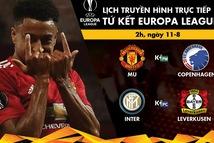 Lịch trực tiếp vòng tứ kết Europa League: Man United, Inter ra sân