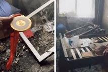 Thắp nến ăn mừng, nhà vô địch Olympic bị cháy trụi căn hộ vì thú cưng