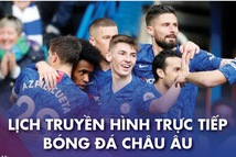 Lich trực tiếp bóng đá châu Âu 9-3: Chelsea gặp Everton