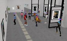 Ngắm tranh, trò chuyện với nhau khi 'tham quan' triển lãm thực tế ảo