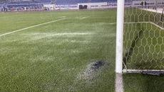 Clip mưa lớn khiến sân Rizal Memorial ngập nước trước trận U22 Việt Nam - Singapore