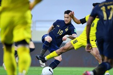 Video: Thái Lan thất bại trước Malaysia ở lượt trận cuối vòng loại thứ 2 World Cup 2022