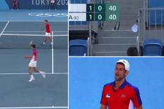 Thua trận, Djokovic 'nổi điên' đập vợt và ném vợt lên khán đài