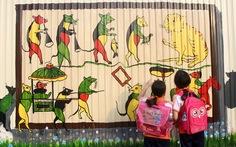 Độc đáo bức tranh 3D vẽ trên tôn dài nhất Việt Nam