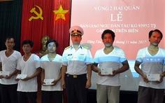 Chìm tàu, 5 ngư dân Kiên Giang được tàu Liberia cứu sống
