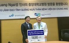 Bệnh viện đại học Hàn Quốc tặng thiết bị y khoa cho Quảng Ngãi