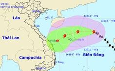 Bão số 13 sức gió 60-90km/h đang tiến gần Hoàng Sa