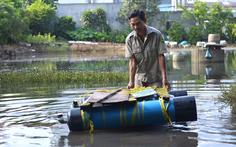 Hút nước giải cứu khu dân cư ngập cả tuần