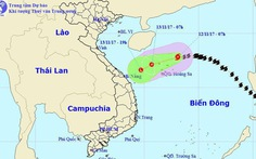 Bão đổi hướng xuống miền Trung, có thể suy yếu thành áp thấp