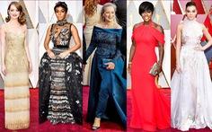 10 bộ váy Oscar được 'săn lùng' nhiều nhất trên mạng năm 2017