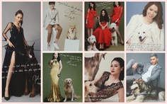 Hoài Anh, Đan Lê, Vân Hugo... chụp ảnh với chó để làm từ thiện
