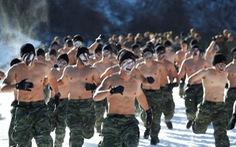 Binh sĩ Mỹ - Hàn tập luyện trong thời tiết rét âm 20 độ C