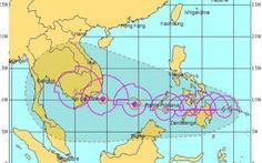 Bão Tembin tiến nhanh hướng Biển Đông, gió giật cấp 12