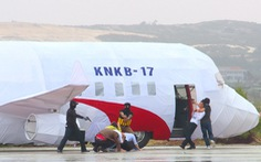 Gần 1.000 người diễn tập khẩn nguy hàng không cấp quốc gia