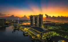 Đi Singapore chơi hoài vẫn ngỡ ngàng ngắm ảnh đảo quốc từ trên cao