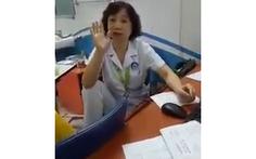 Nữ bác sĩ gác chân lên ghế 'đôi co' với người nhà bệnh nhi