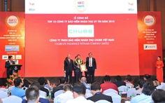 """Chubb Life Việt Nam giữ vững vị trí """"Top 10 Công ty Bảo hiểm Nhân thọ Uy tín năm 2018"""""""