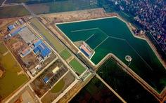 Hạ thủy thành công đường ống khổng lồ dưới đáy sông Hồng