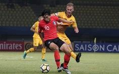 U19 Hàn Quốc và Úc bất phân thắng bại