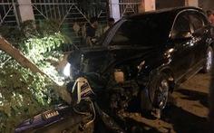 Phó công an Đồng Xoài lái ôtô tông nhiều xe máy, 2 người nhập viện